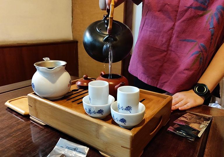 台中 無為草堂のお茶セット