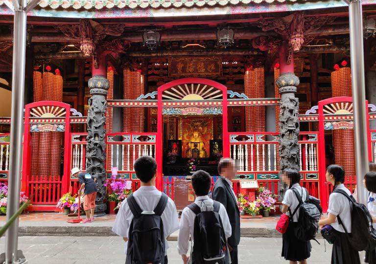 台北 龍山寺の後殿 媽祖娘娘