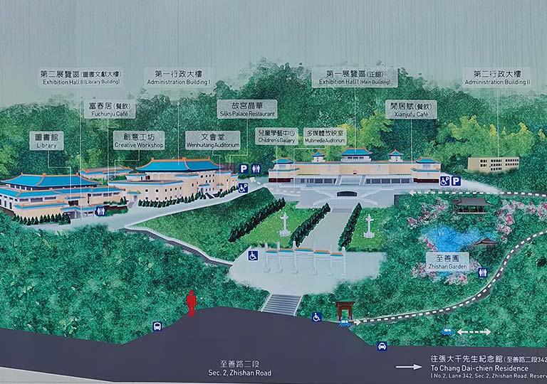 台北 国立故宮博物館のマップ