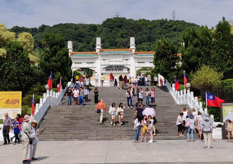 台北 国立故宮博物館の入り口