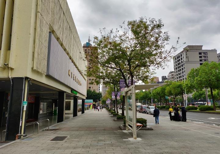 バス停「西門駅(捷運西門站)」の位置
