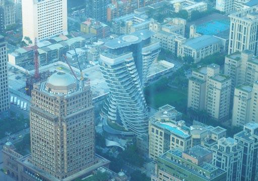 台北101 89階屋内展望台からの眺め