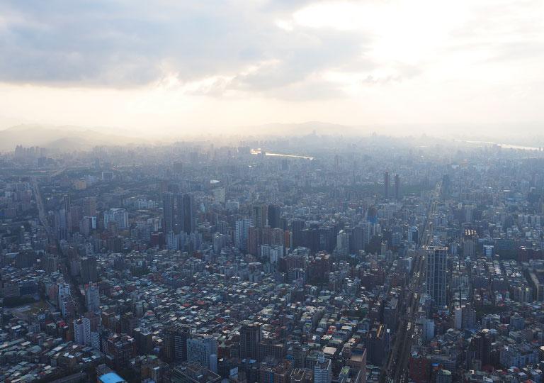 台北101 91屋外展望台からの眺め