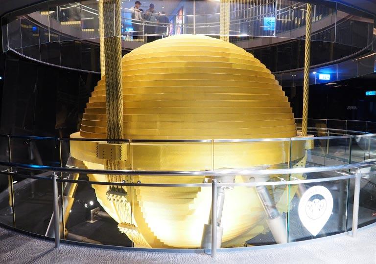 台北101 展望台のウィンドダンパー