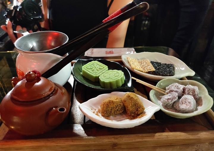 九份 阿妹茶酒館のお茶セット