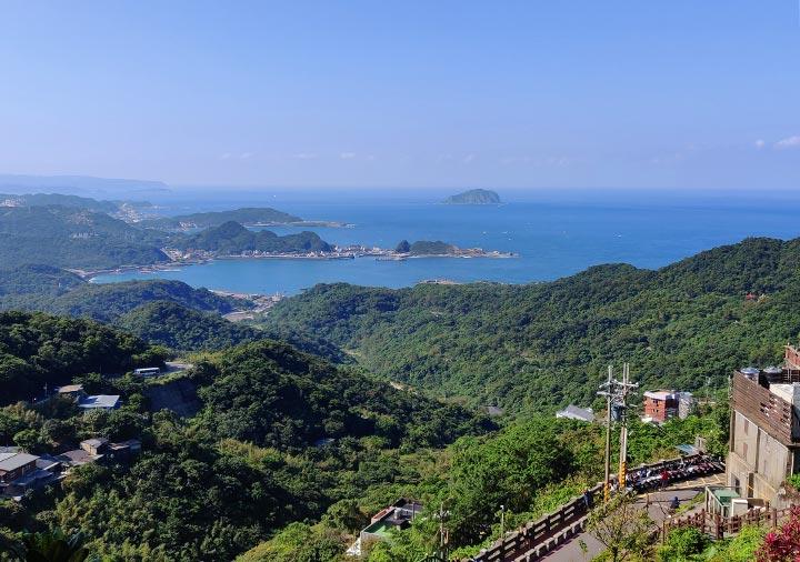 九份 展望台(基山街觀景臺)からの眺め