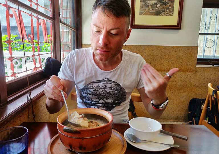 台中のグルメ 粥(かゆ)