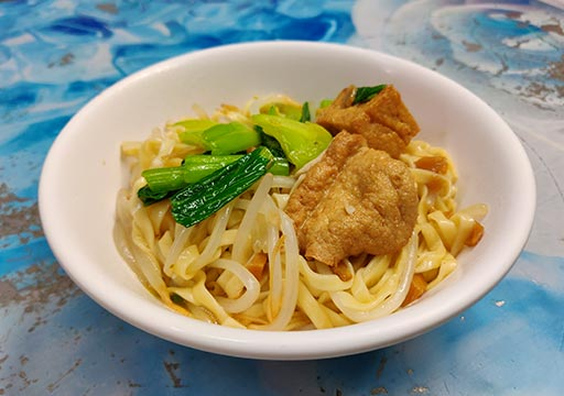 台中 中華路夜市のグルメ 汁なし麺