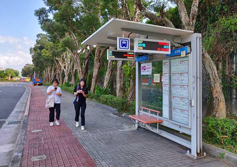 台北 忠烈祠のバス停