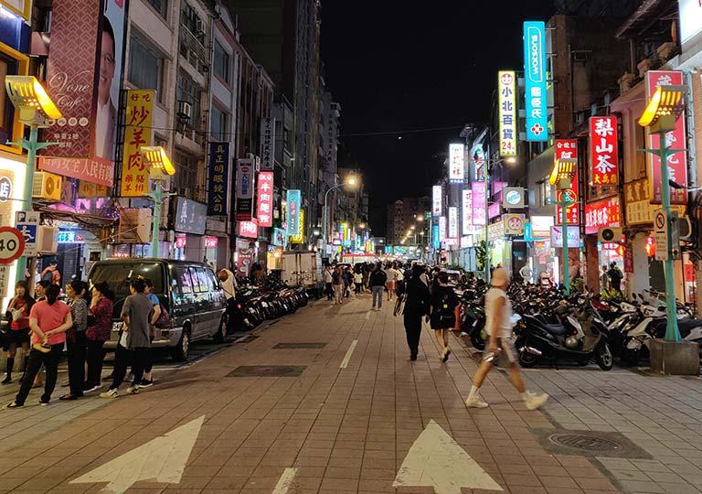台北 寧夏夜市の入り口