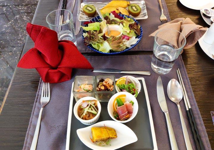 ゴールデンチューリップRSブティックホテル台南 朝食の前菜