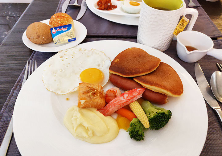 ゴールデンチューリップRSブティックホテル台南 フレンチ風の朝食