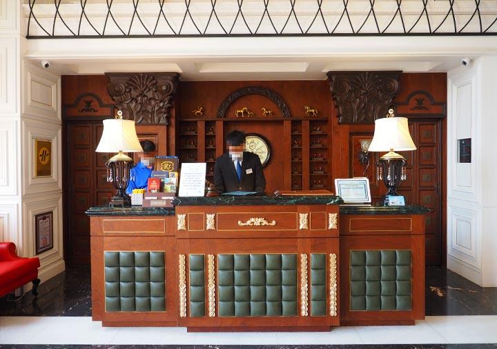 ゴールデンチューリップRSブティックホテル台南 レセプションデスク