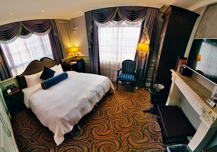 ゴールデンチューリップRSブティックホテル台南 客室のパノラマ画像