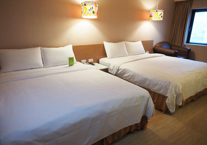 カインドネスホテル台南チーカンタワー 客室のベッド