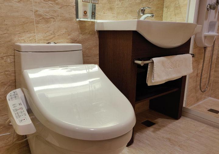 カインドネスホテル台南チーカンタワー 客室のトイレ