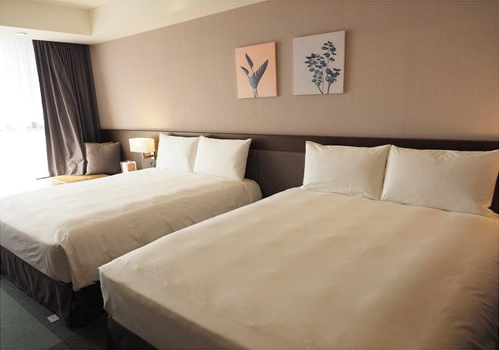 レイクショアホテル台南 客室のベッド