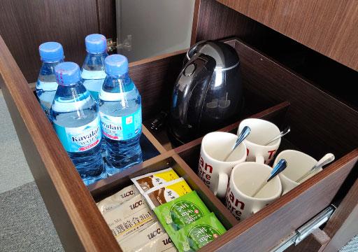 レイクショアホテル台南 客室の飲み物類