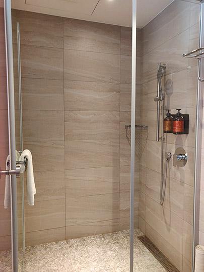 レイクショアホテル台南 客室のシャワー
