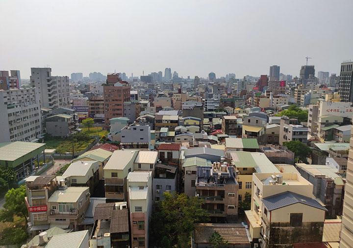 レイクショアホテル台南 客室の窓からの景色