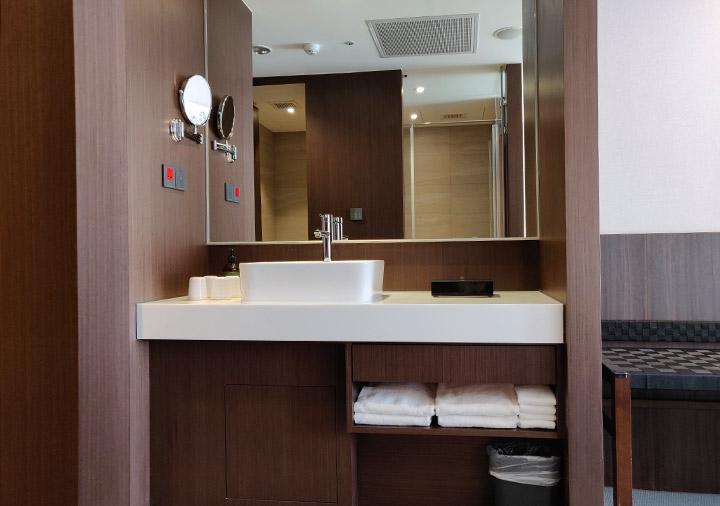 レイクショアホテル台南 客室の洗面台