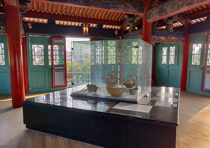 台南 赤崁楼の海神廟 2階