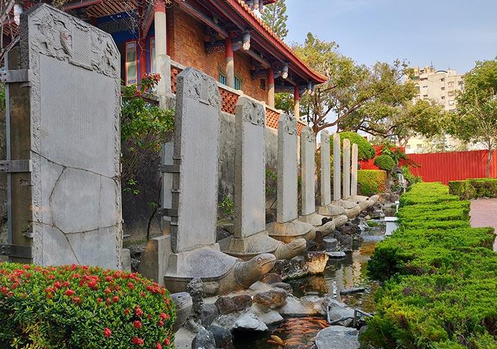 台南 赤崁楼の御贔屓碑