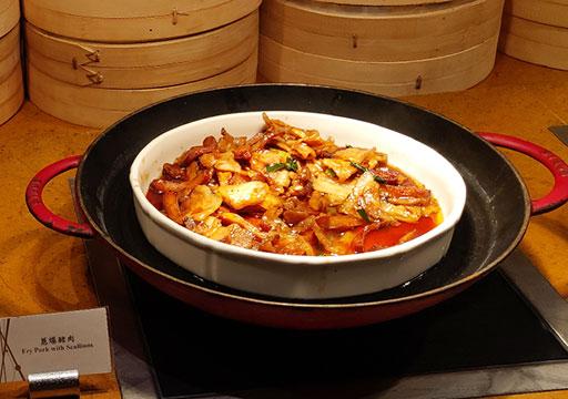 シャングリラ・ファーイースタンプラザホテル台南 朝食の温かい料理