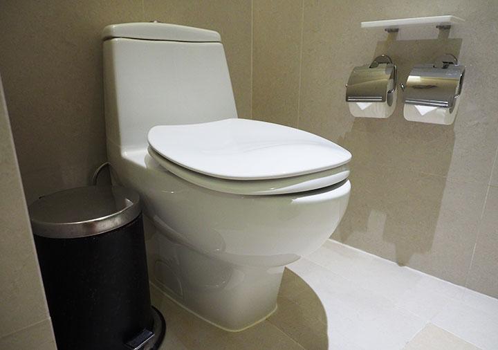 シャングリラ・ファーイースタンプラザホテル台南 客室のトイレ