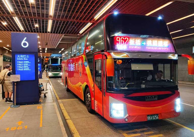 台北 桃園空港のバス乗り場