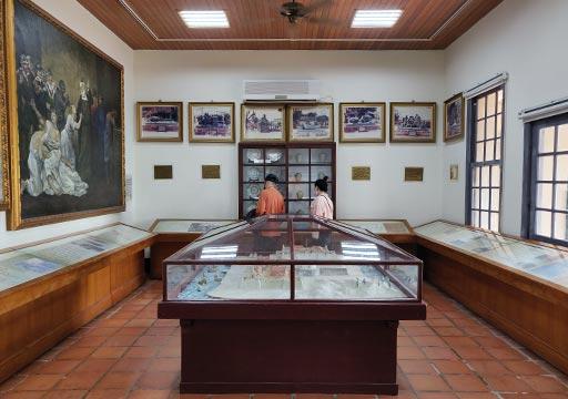 台南 安平古堡の史跡記念館 展示