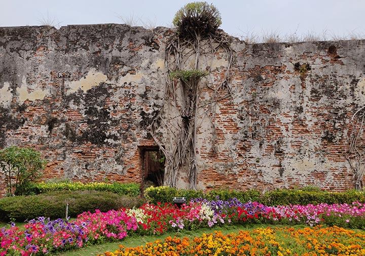 台南 ゼーランディア城の城壁