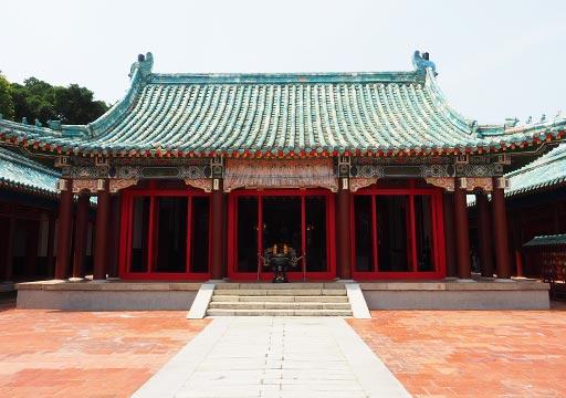 台南 延平郡王祠の廟
