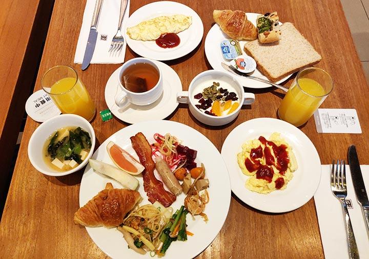 アンバサダーホテル高雄 朝食ビュッフェの料理