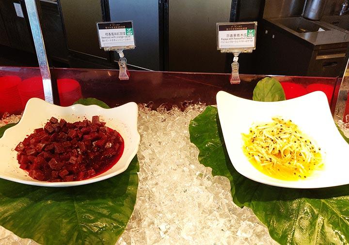 アンバサダーホテル高雄 朝食ビュッフェのサラダ