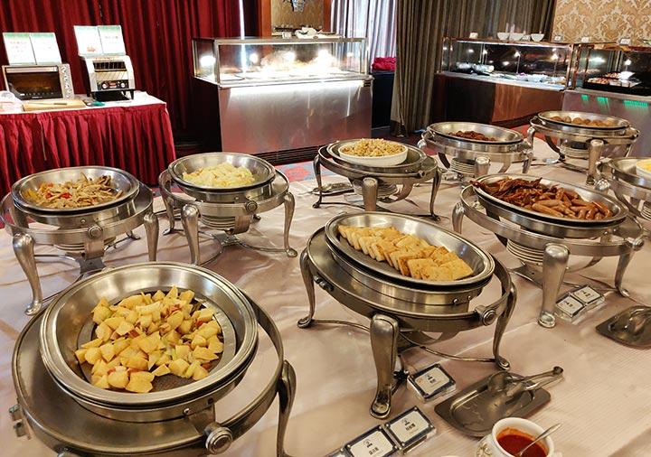 高雄 ハワードプラザホテル高雄 麒麟廳の朝食ビュッフェ