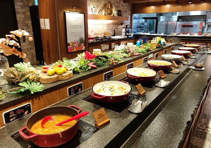 ジャストスリープ高雄駅前館 朝食の料理