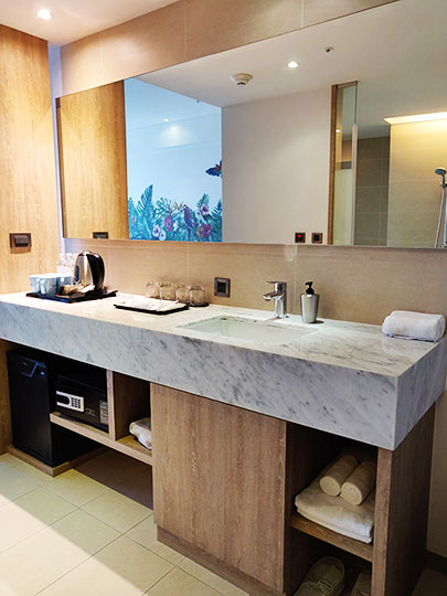 ジャストスリープ高雄駅前館 客室の洗面台