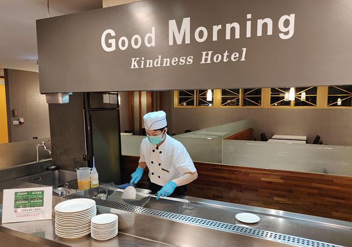 高雄 カインドネスホテル高雄メインステーション 夜食の注文カウンター