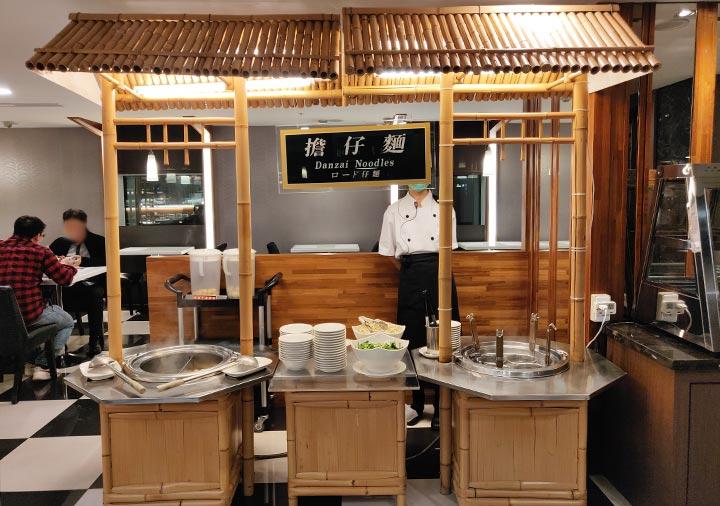高雄 カインドネスホテル高雄メインステーションの夜食 担仔麺