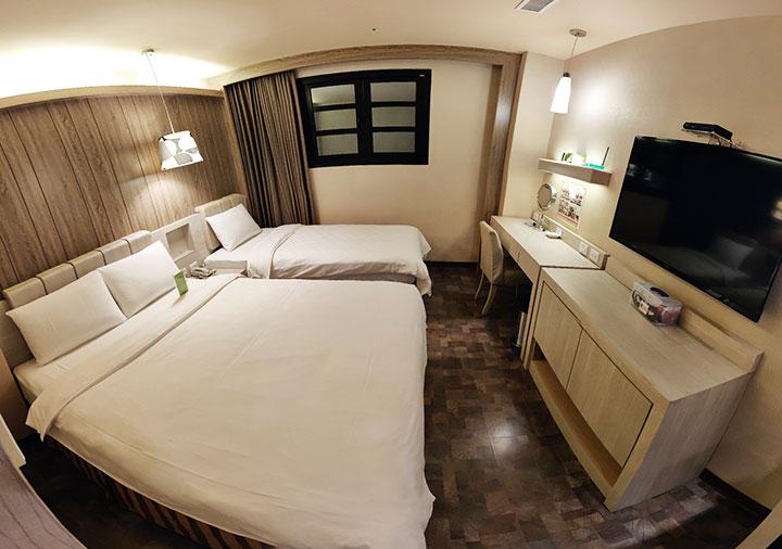 高雄 カインドネスホテル高雄メインステーションの客室 180度画像