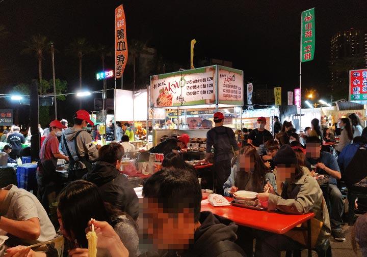 台南の大東夜市 ラクサの屋台