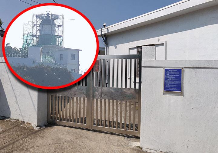 高雄の旗津島 高雄燈塔の入り口