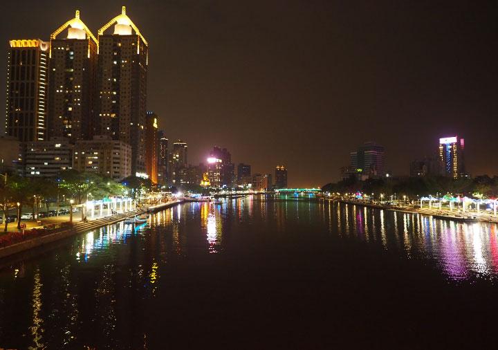 高雄 愛河の夜景