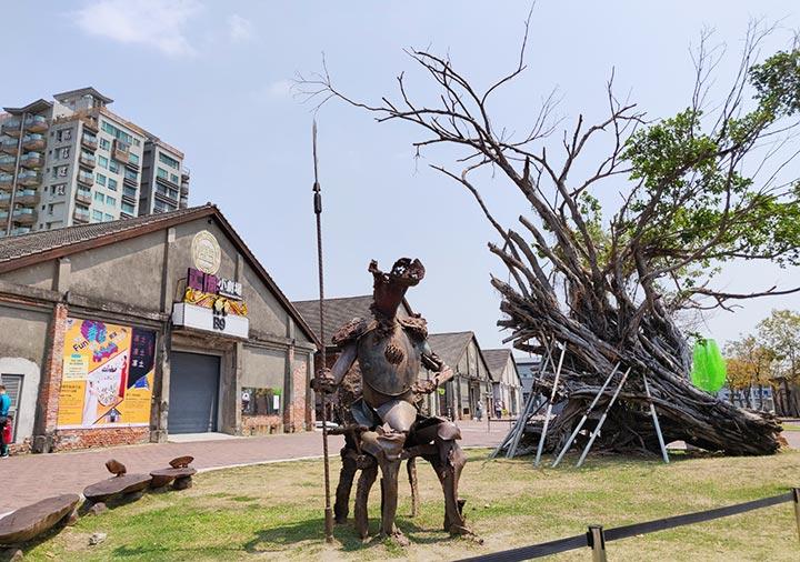 高雄の駁二芸術特区 蓬莱倉庫群の景観