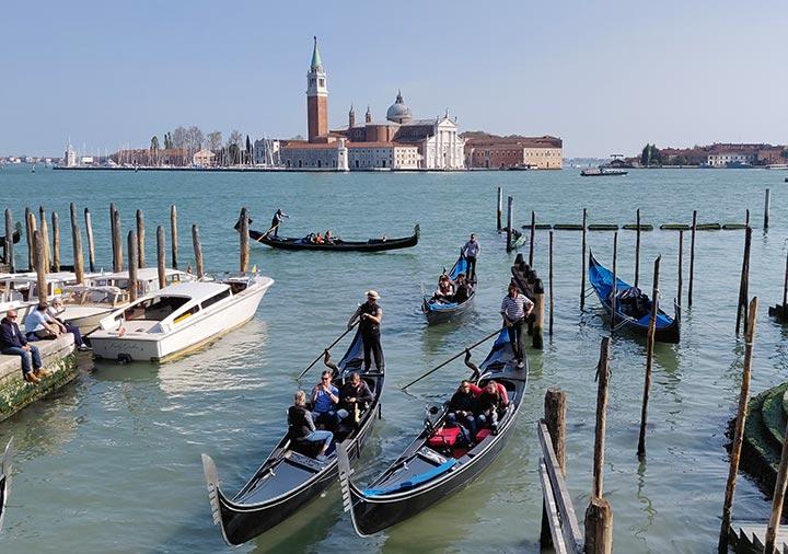 ベネチアのサンマルコ湾
