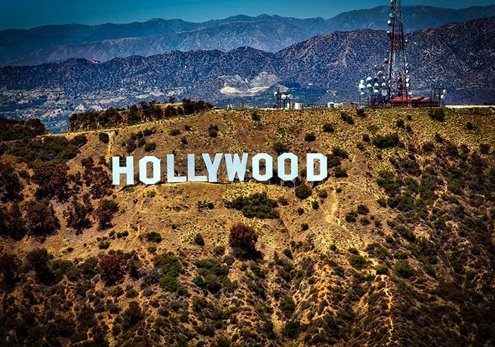 ロサンゼルス ハリウッドの看板