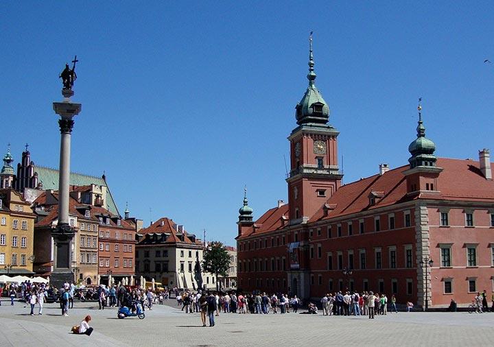 ポーランド ワルシャワの広場
