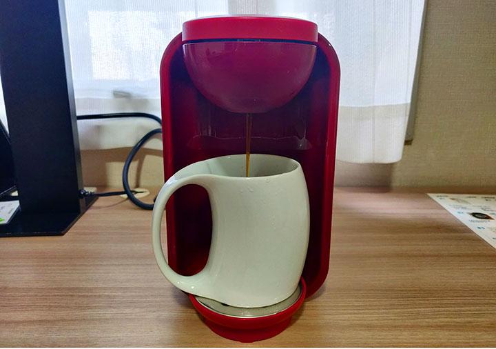 ホテル福岡ガーデンパレス 客室のコーヒーメーカー