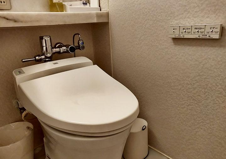 ホテル福岡ガーデンパレス 客室のトイレ